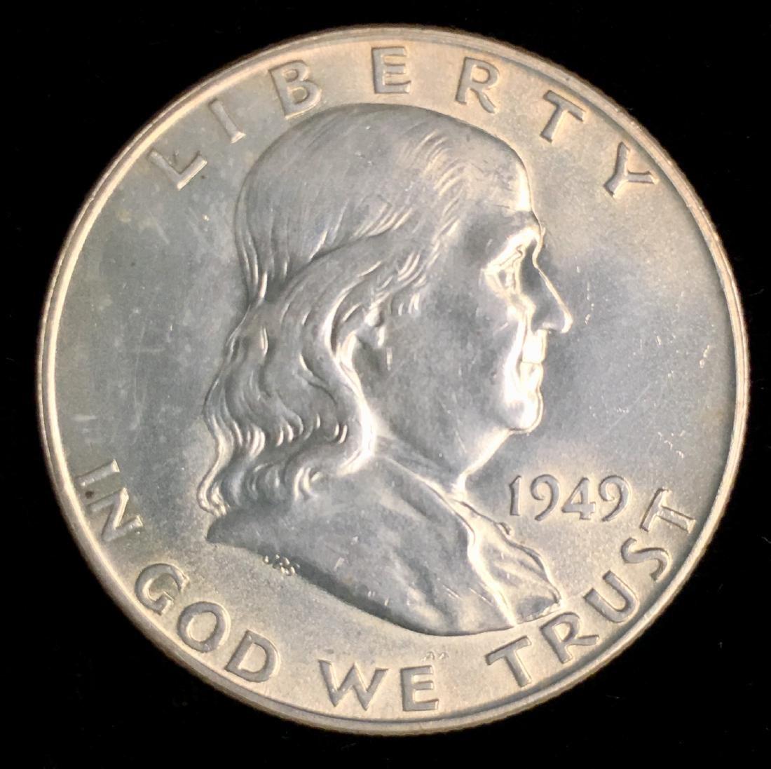 1949-D 50c Franklin Half Dollar PBU