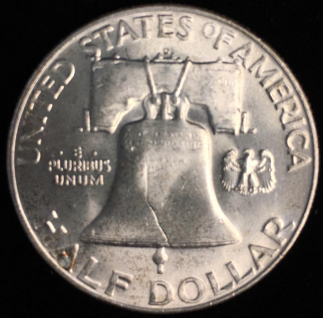 1953-D 50c Franklin Half Dollar Full Bell Lines GEM BU - 2