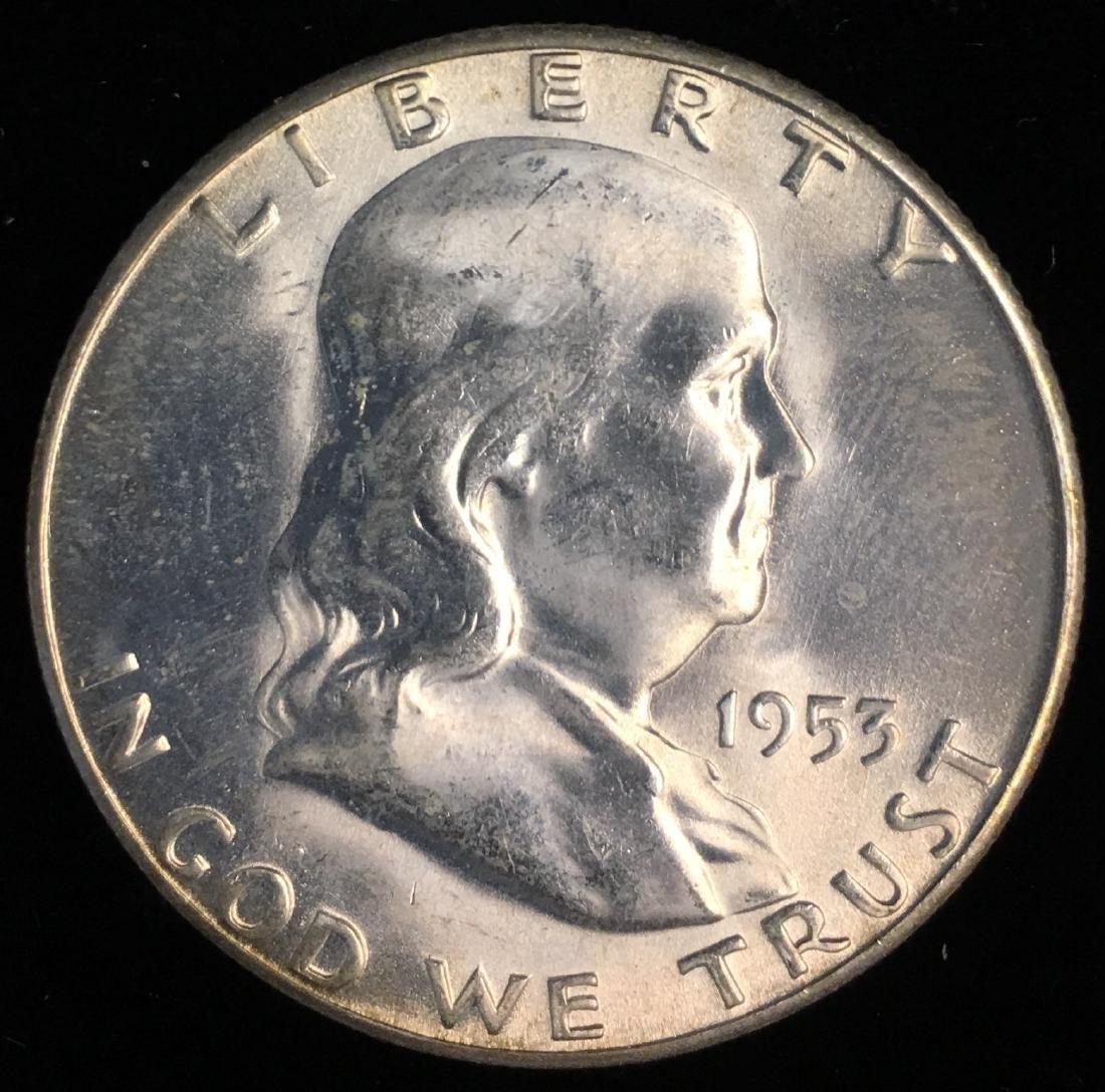 1953-S 50c Franklin Half Dollar GEM BU