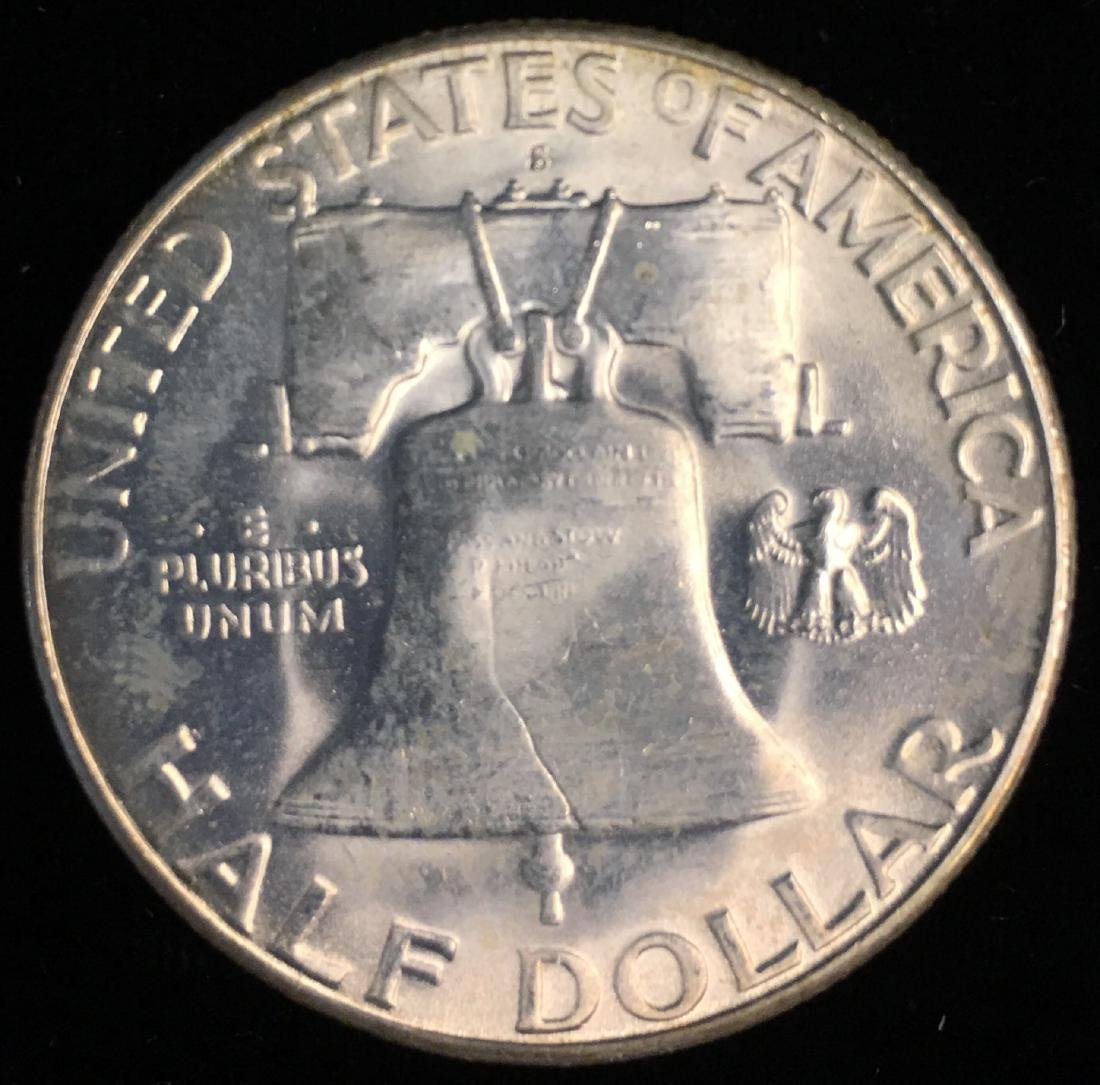 1953-S 50c Franklin Half Dollar GEM BU - 2