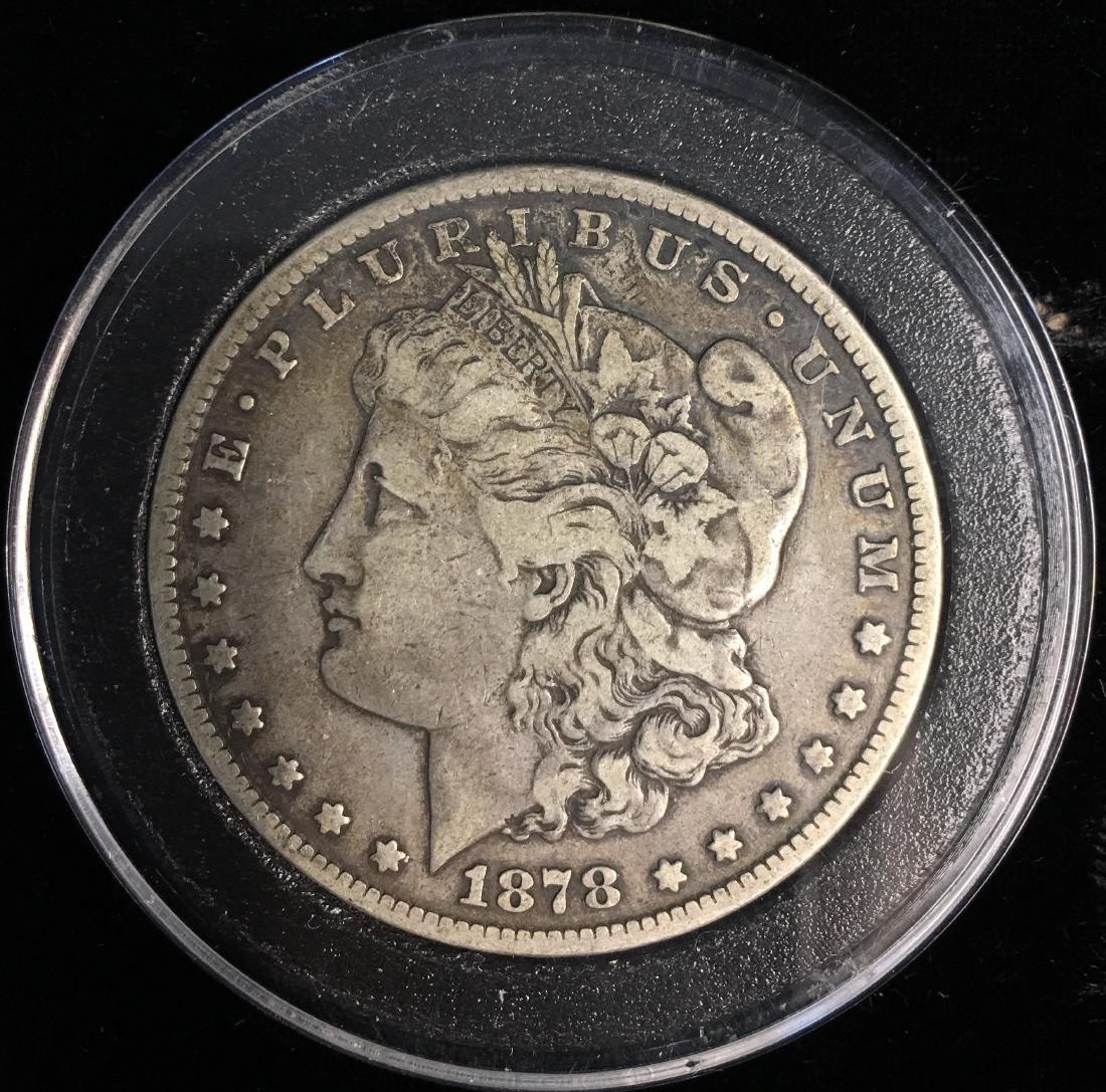 1878-CC $1 Morgan Silver Dollar VF