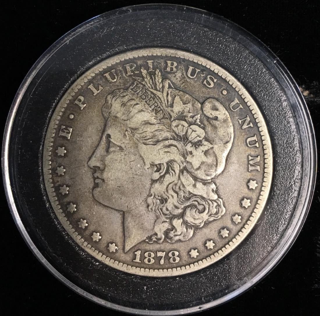 1878-CC $1 Morgan Silver Dollar VF