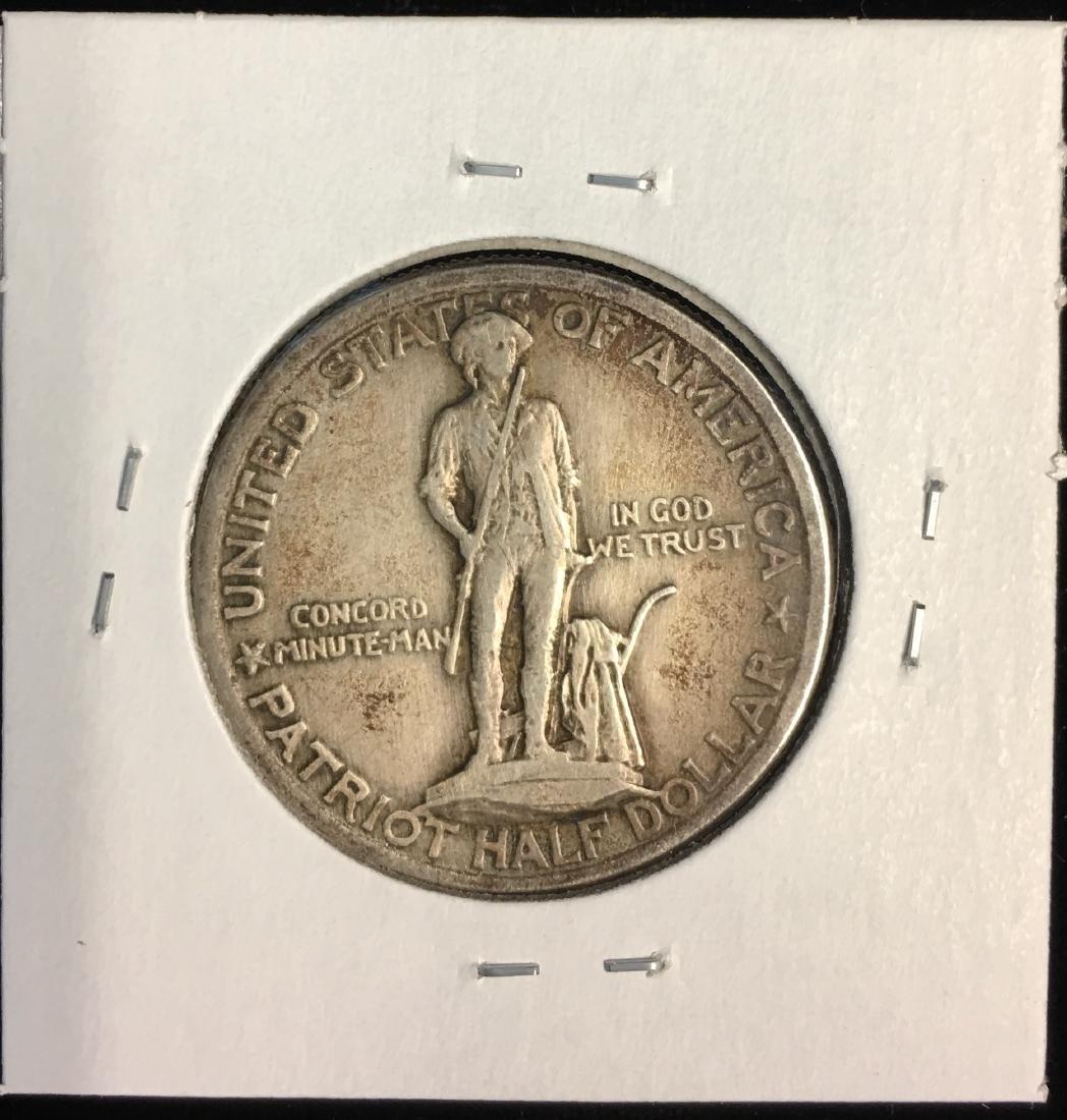 1925 50c Lexington-Concord Sesquicentennial Silver