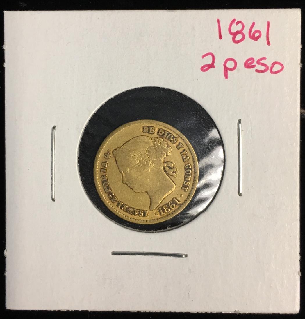 1861 Philippines 2Peso AGW: .0952