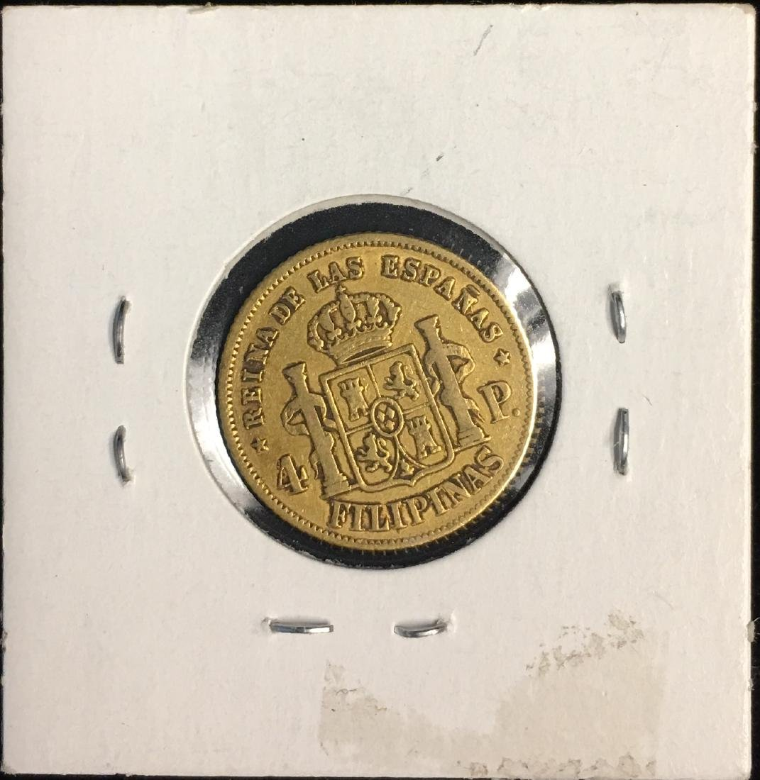 1862 Philippines 4Peso AGW: .1903 - 2