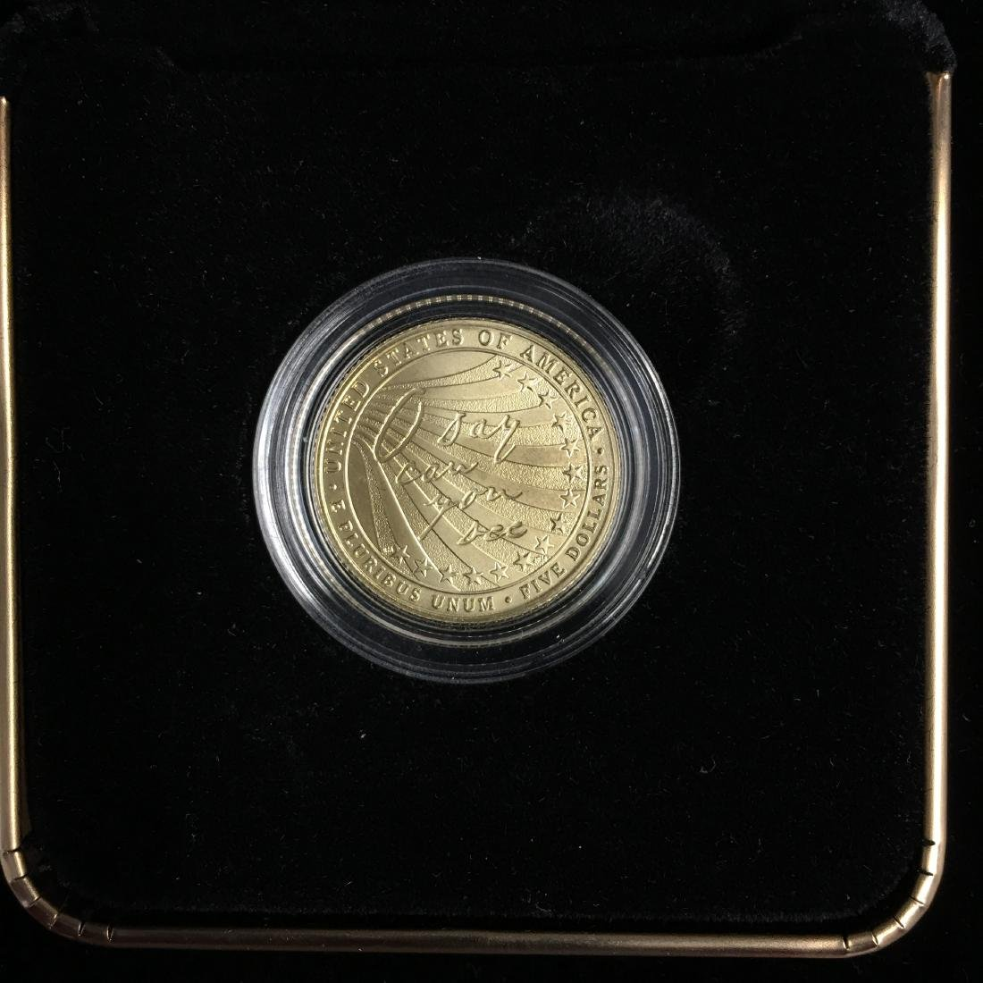 2012 $5 Gold Star -Spangled Banner Commemorative Five - 3