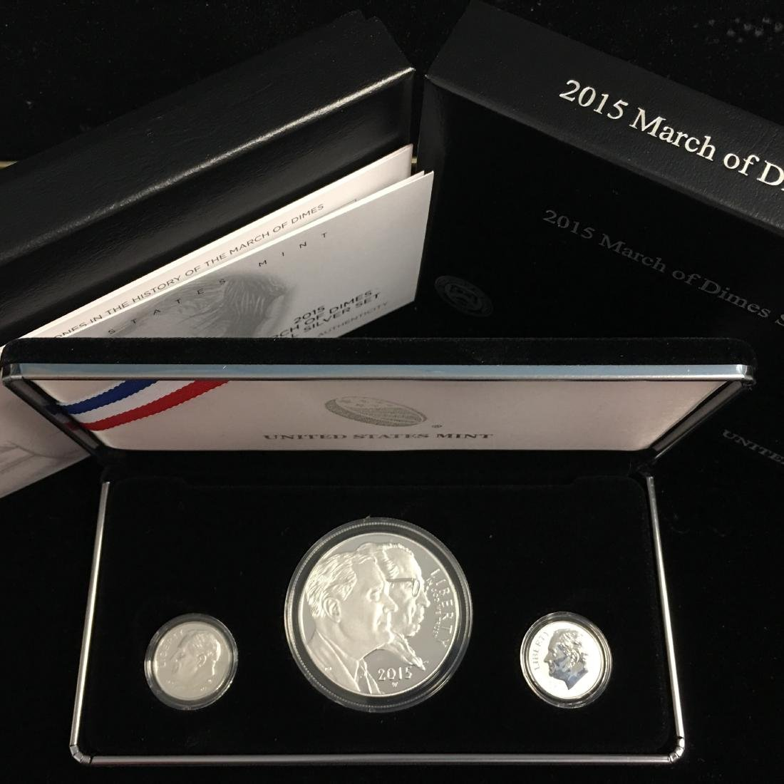 2015 March of Dimes 3 coins Special Commemorative