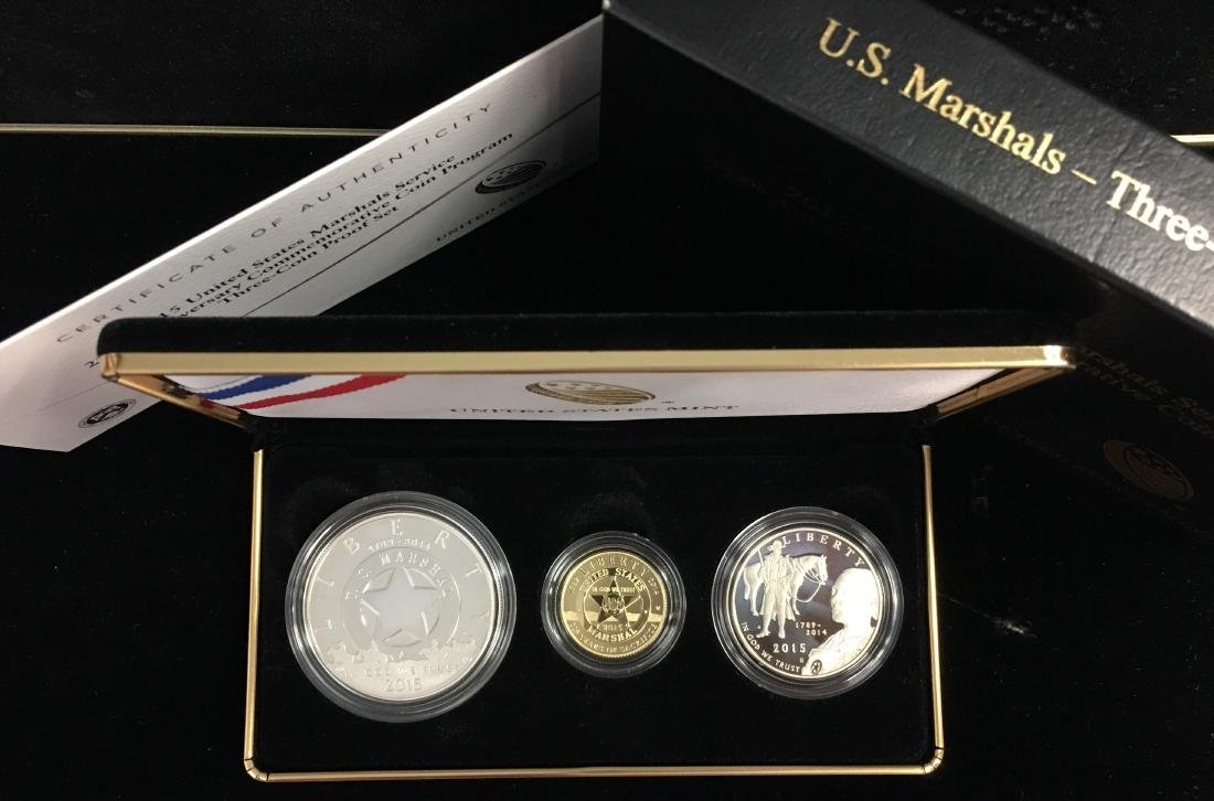 2015 US Marshals Service 225th Anniversary 3 coins