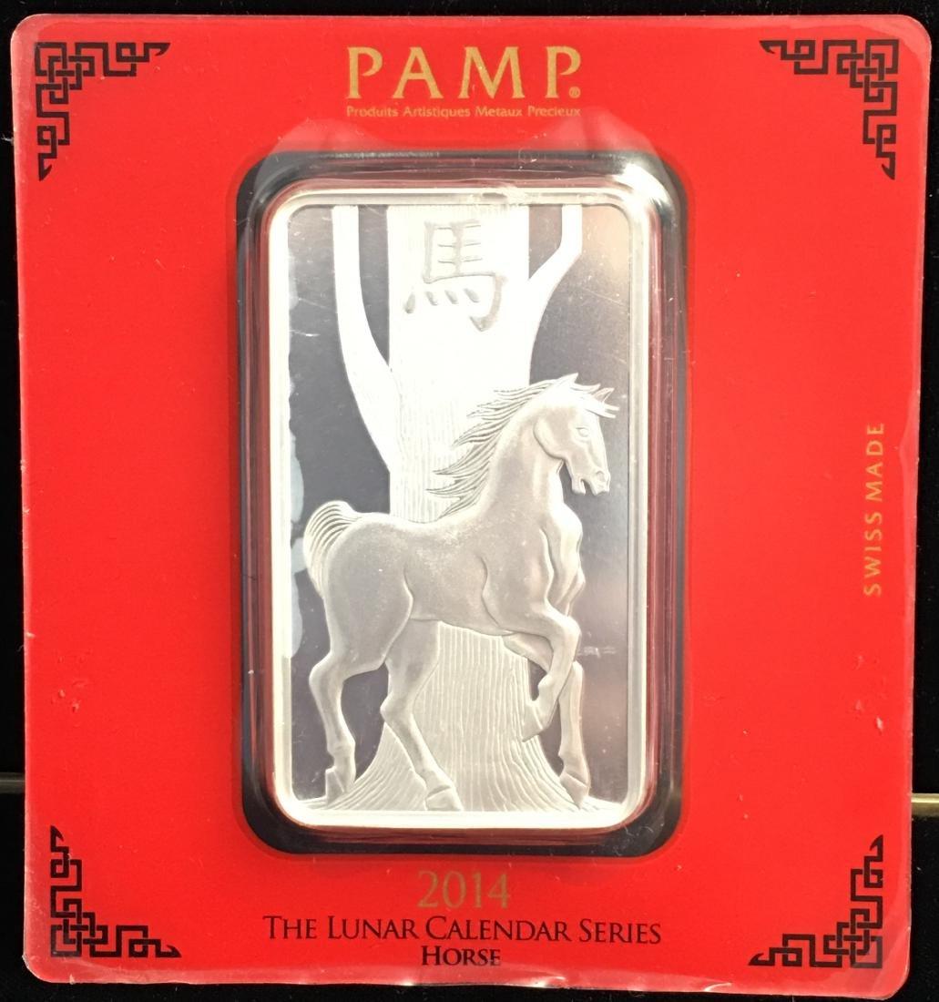 2014 The Lunar Calendar Series Horse 100 g. .999 Silver
