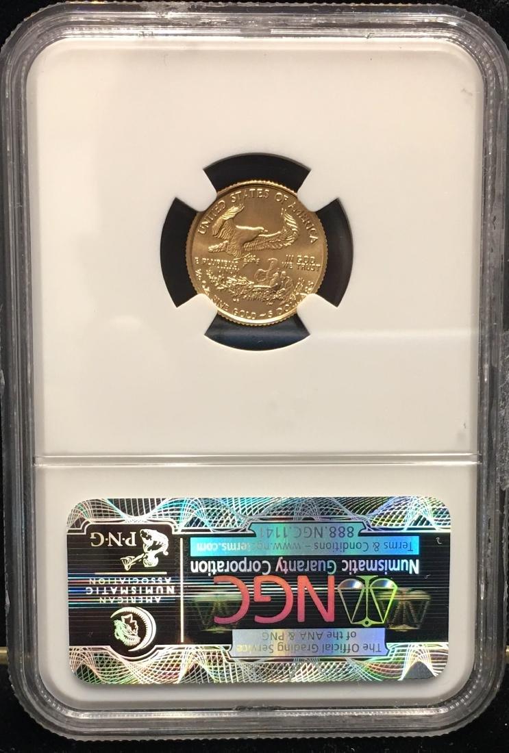 1998 $5 American Gold Eagle 1/10 oz NGC MS69 - 2