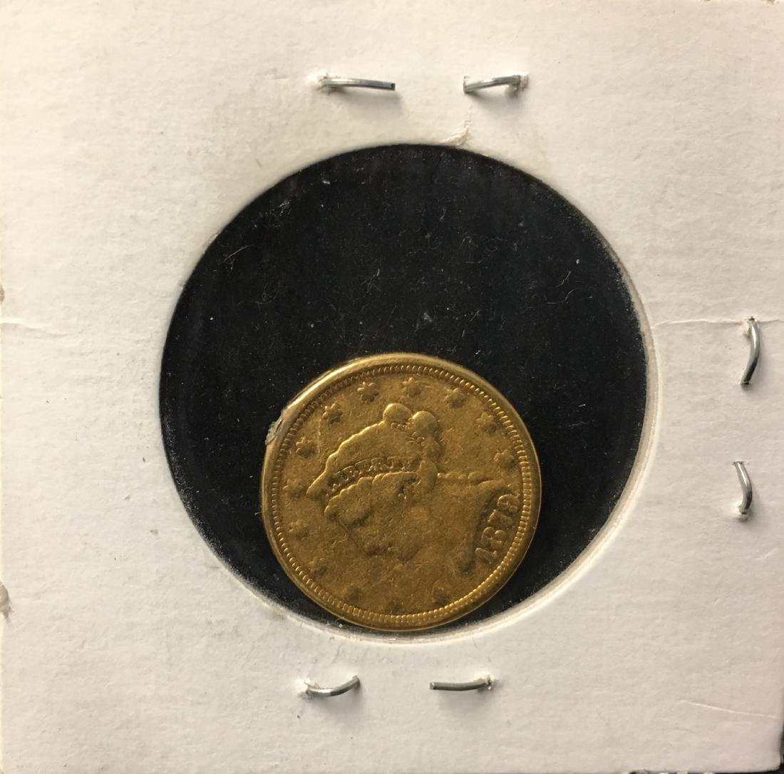 1879 Liberty $2.50 Gold Quarter Eagle Fancy Engraved