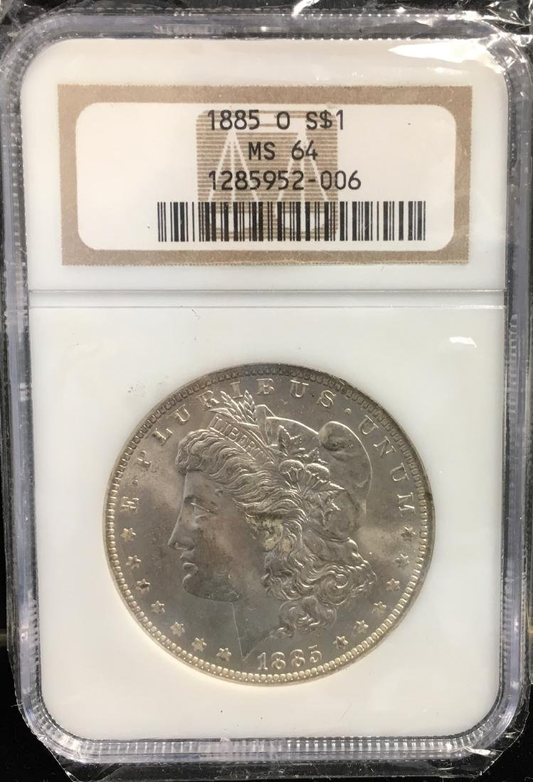 1885-O $1 Morgan Silver Dollar NGC MS64