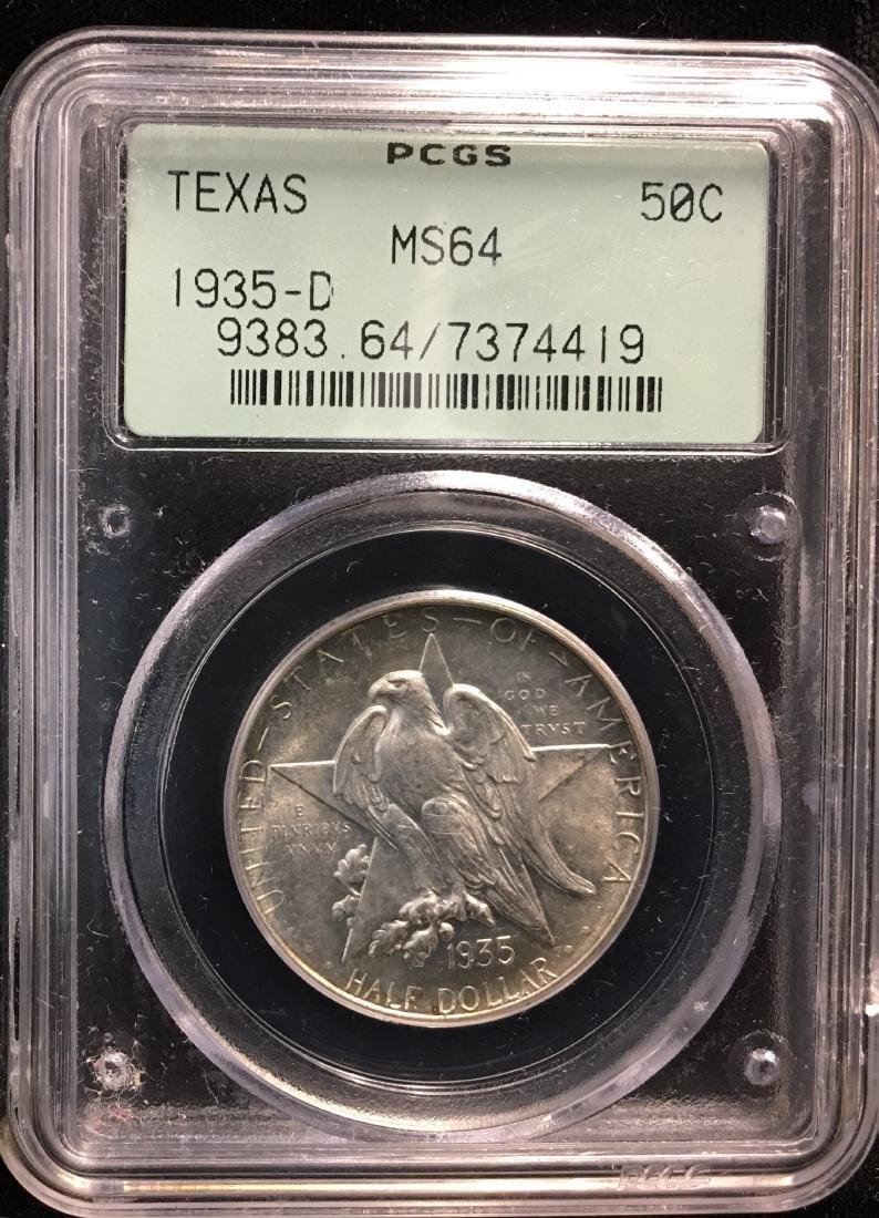1935-D 50C Texas Independence Centennial Classic