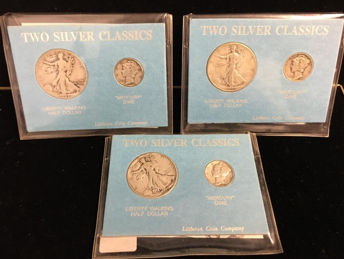 Set of 3 - World War II Coins Set 1943-1945 Walking