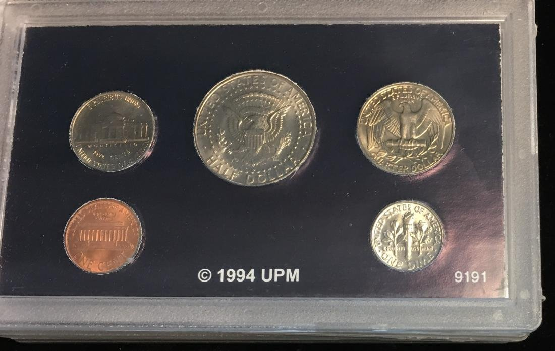 Set of 4 U.S. Date Sets 1990-1993 - 10