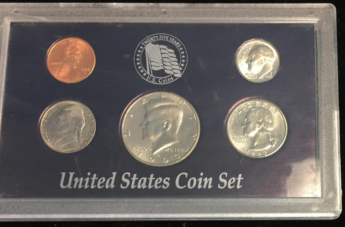 Set of 4 U.S. Date Sets 1990-1993 - 3