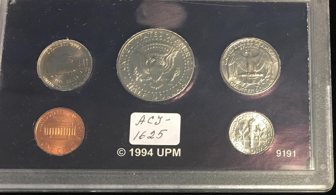 Set of 4 U.S. Date Sets 1990-1993 - 4