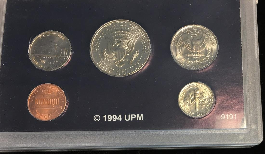 Set of 4 U.S. Date Sets 1990-1993 - 6