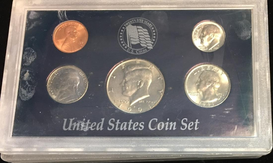 Set of 4 U.S. Date Sets 1990-1993 - 7