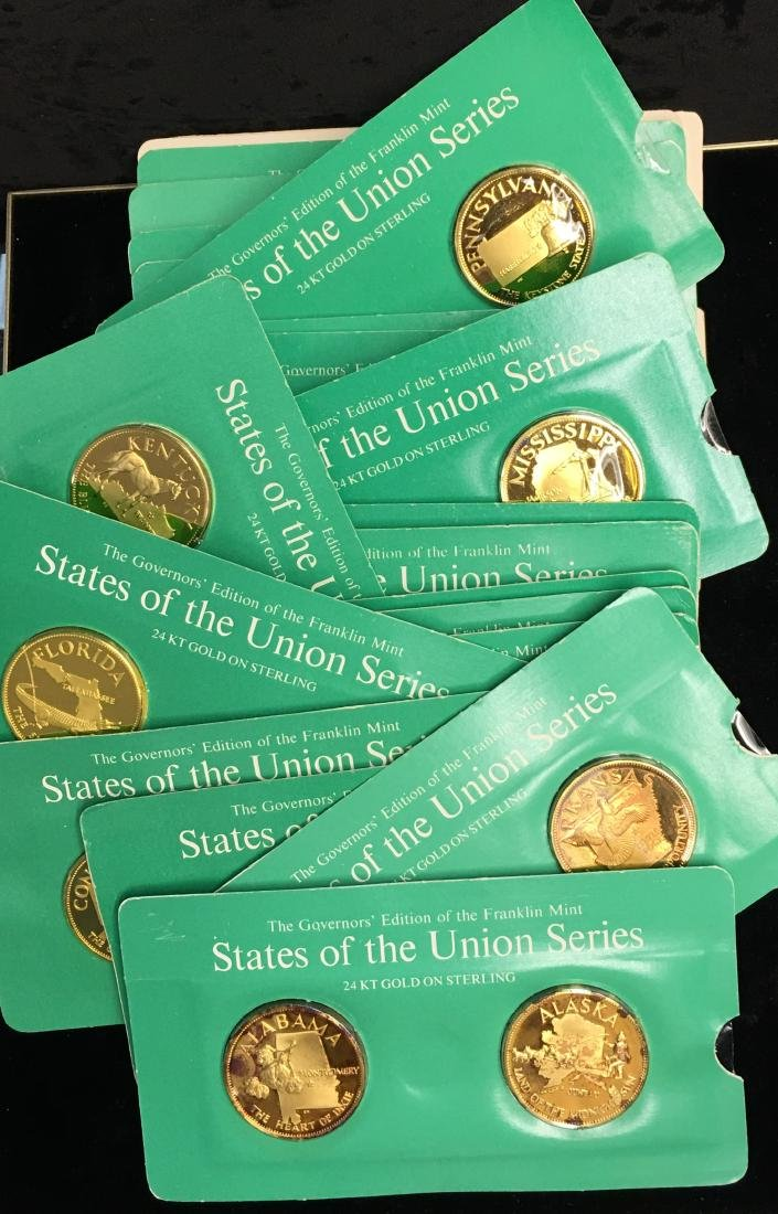 Set of 25 State of The Union Series Franklin Mint
