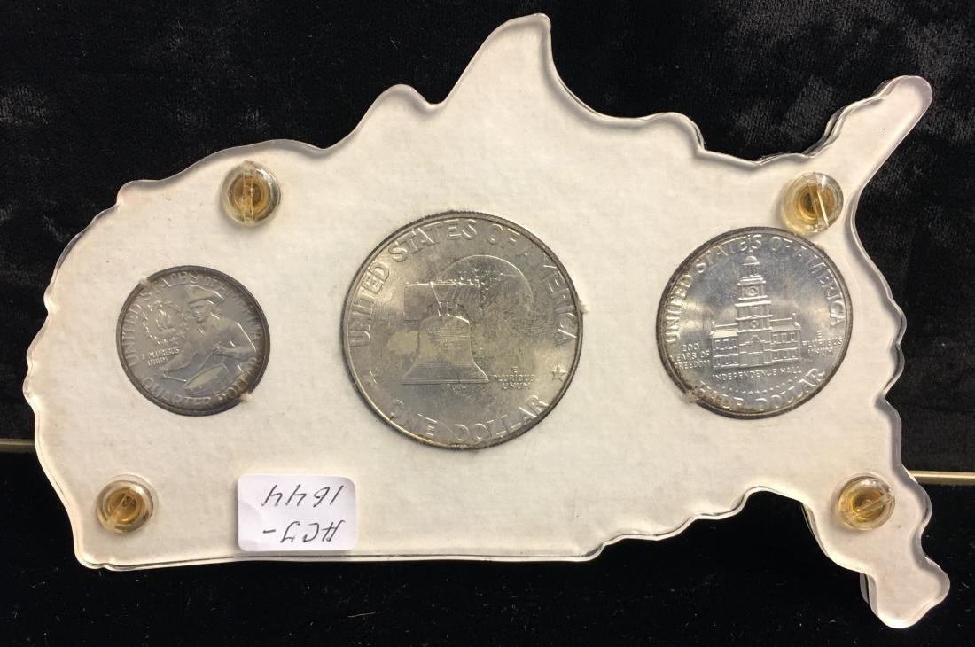 1976 The U.S. Bicentennial 3 Silver Coins Set - 2