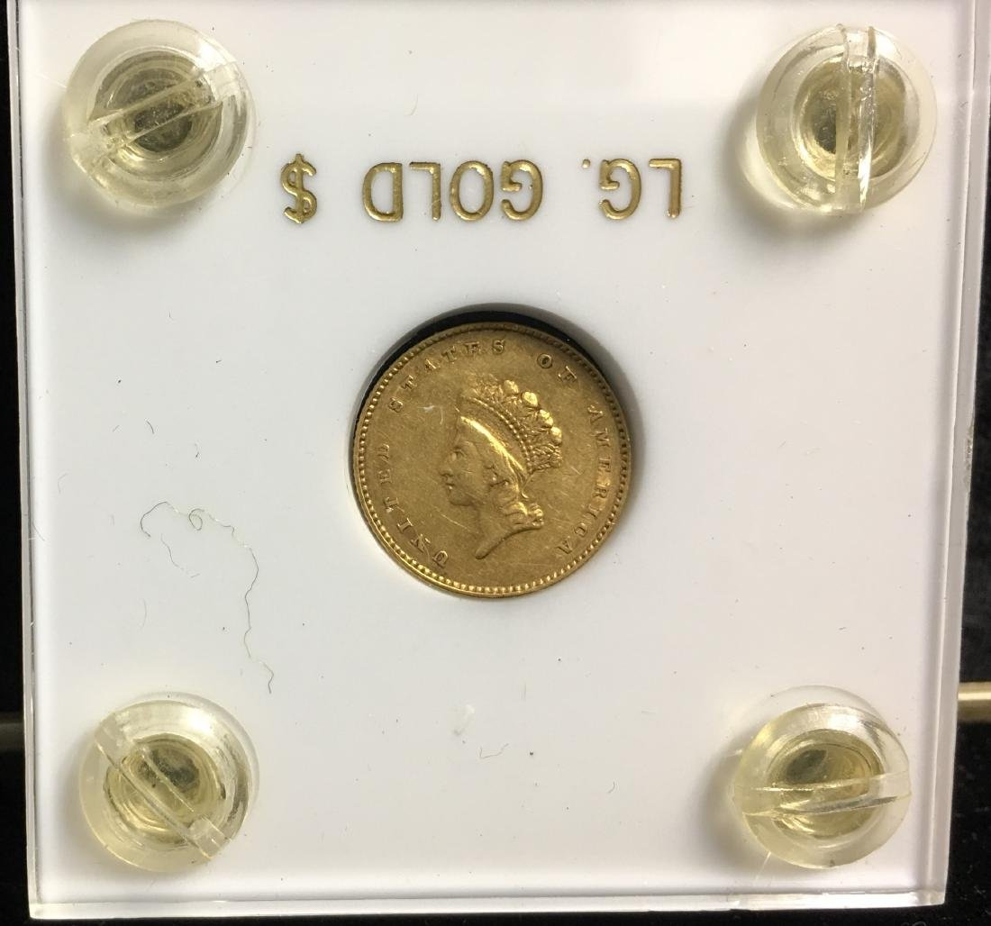 1855 $1 Gold Indian Princess Head, Small Head - Type 2