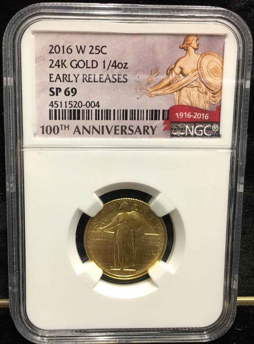 2016-W 25C 24K Gold 1/4 oz Early Releases NGC SP69
