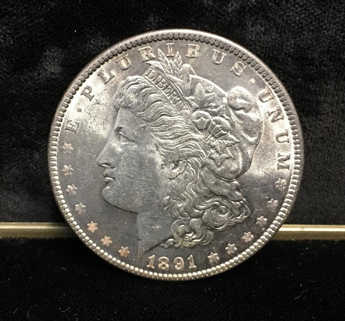 1891-P $1 Morgan Silver Dollar Uncirculated