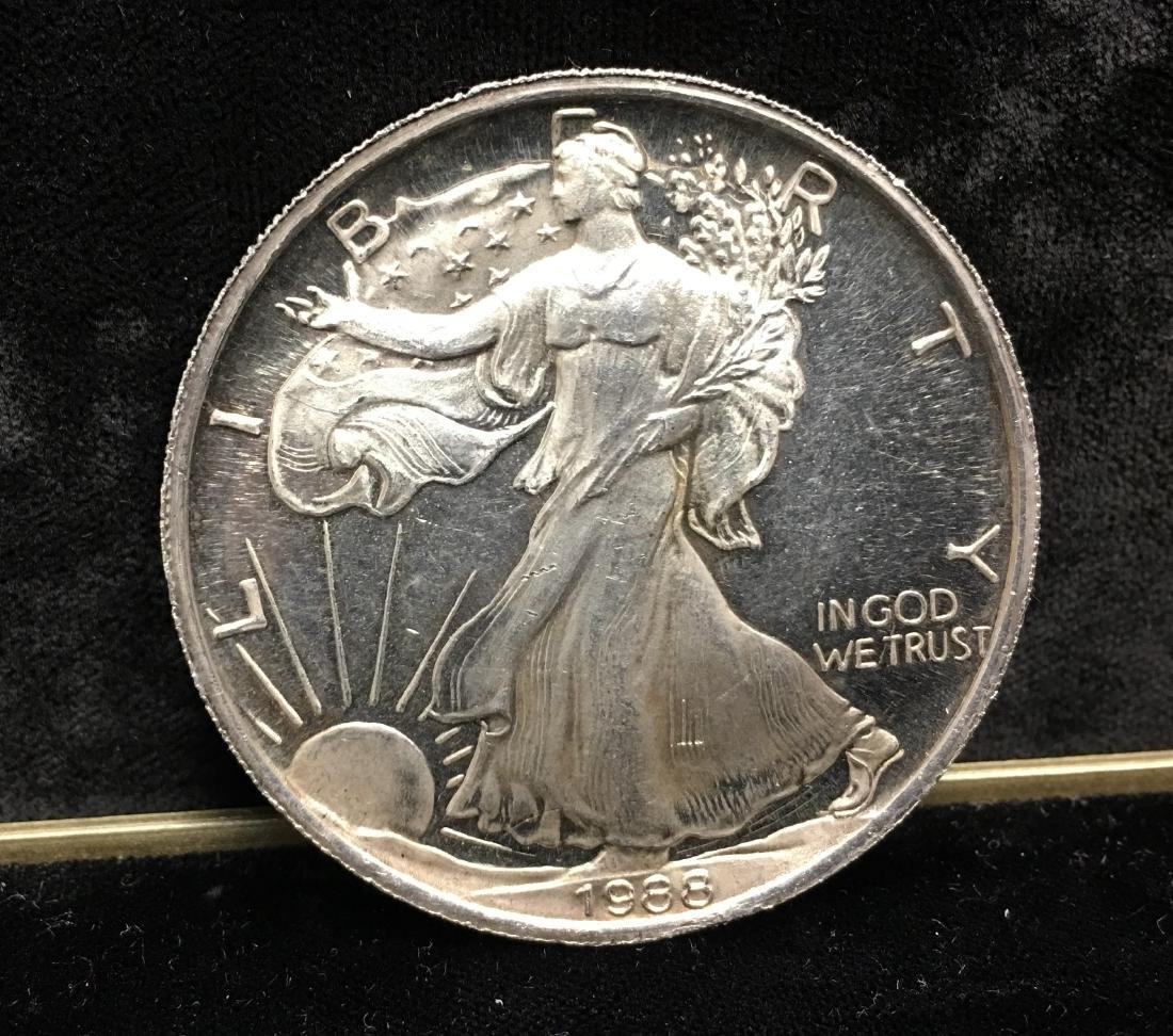 1988 Copy of American Silver Eagle  tr oz .999 Silver