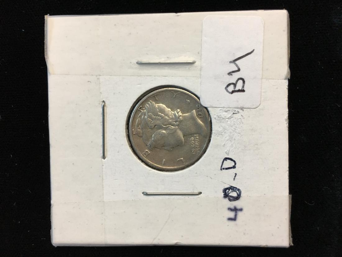1940-D 10C Mercury Dime Brilliant Uncirculated