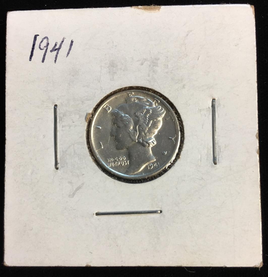 1941-P 10C Mercury Dime PBU