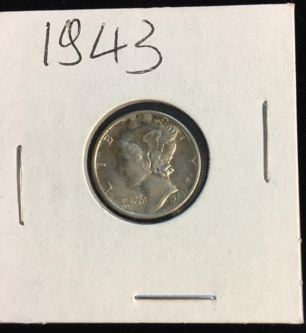 1943-P 10C Mercury Dime