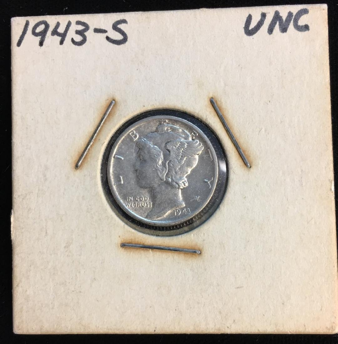 1943-S 10C Mercury Dime Uncirculated