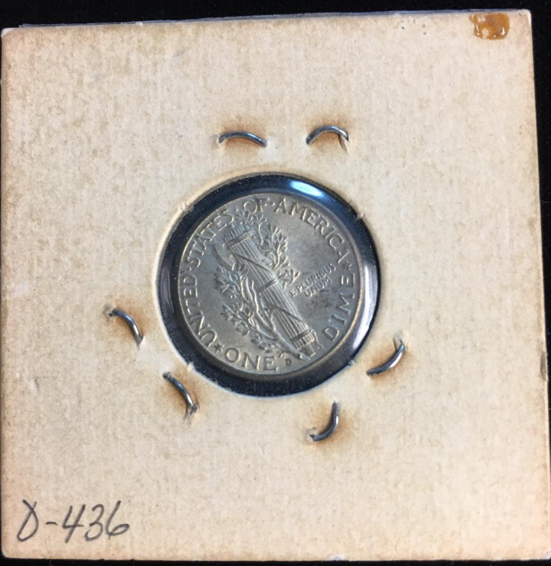 1944-D 10C Mercury Dime Uncirculated - 2