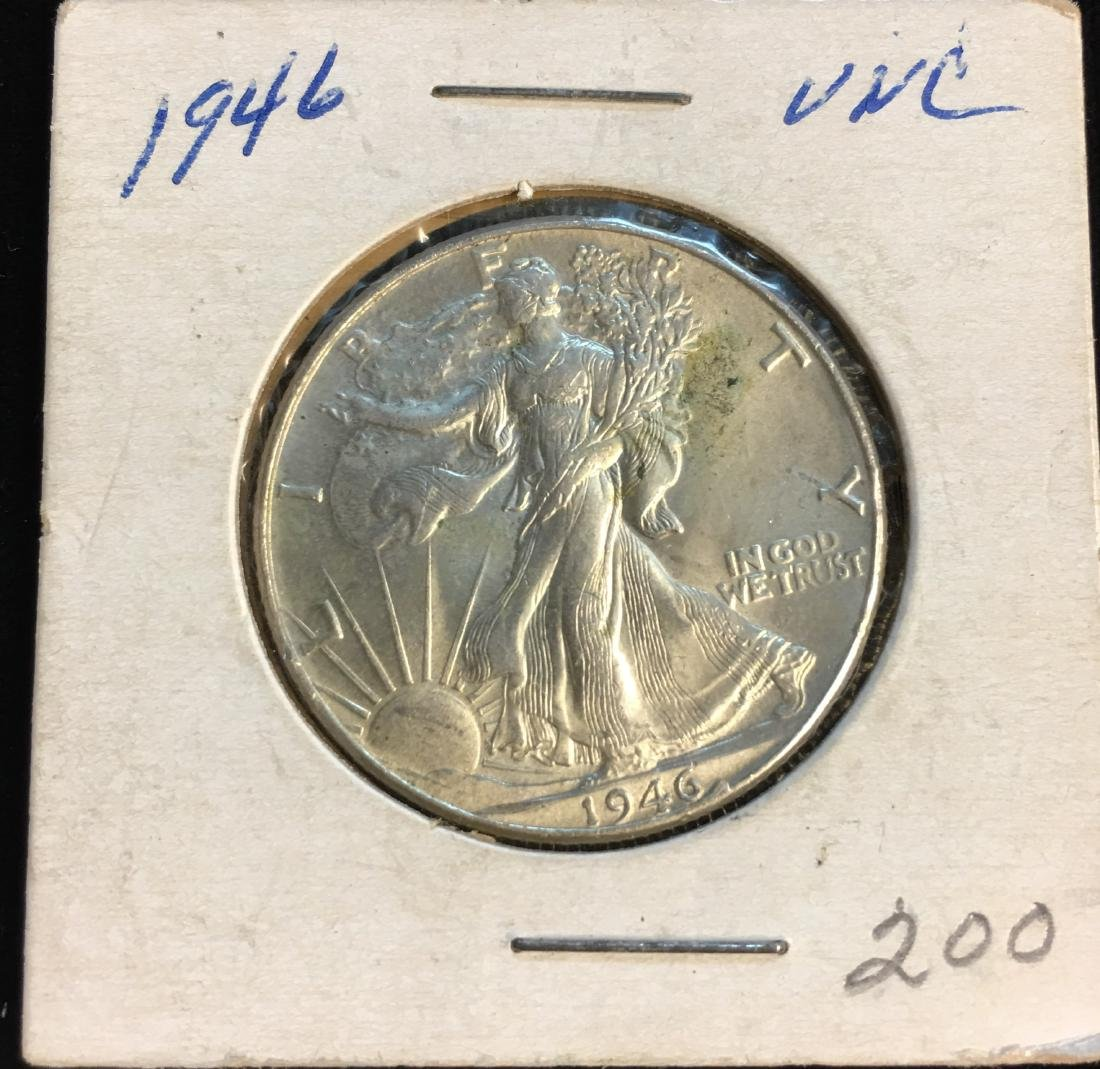 1946-P 50C Walking Liberty Silver Half Dollar BU