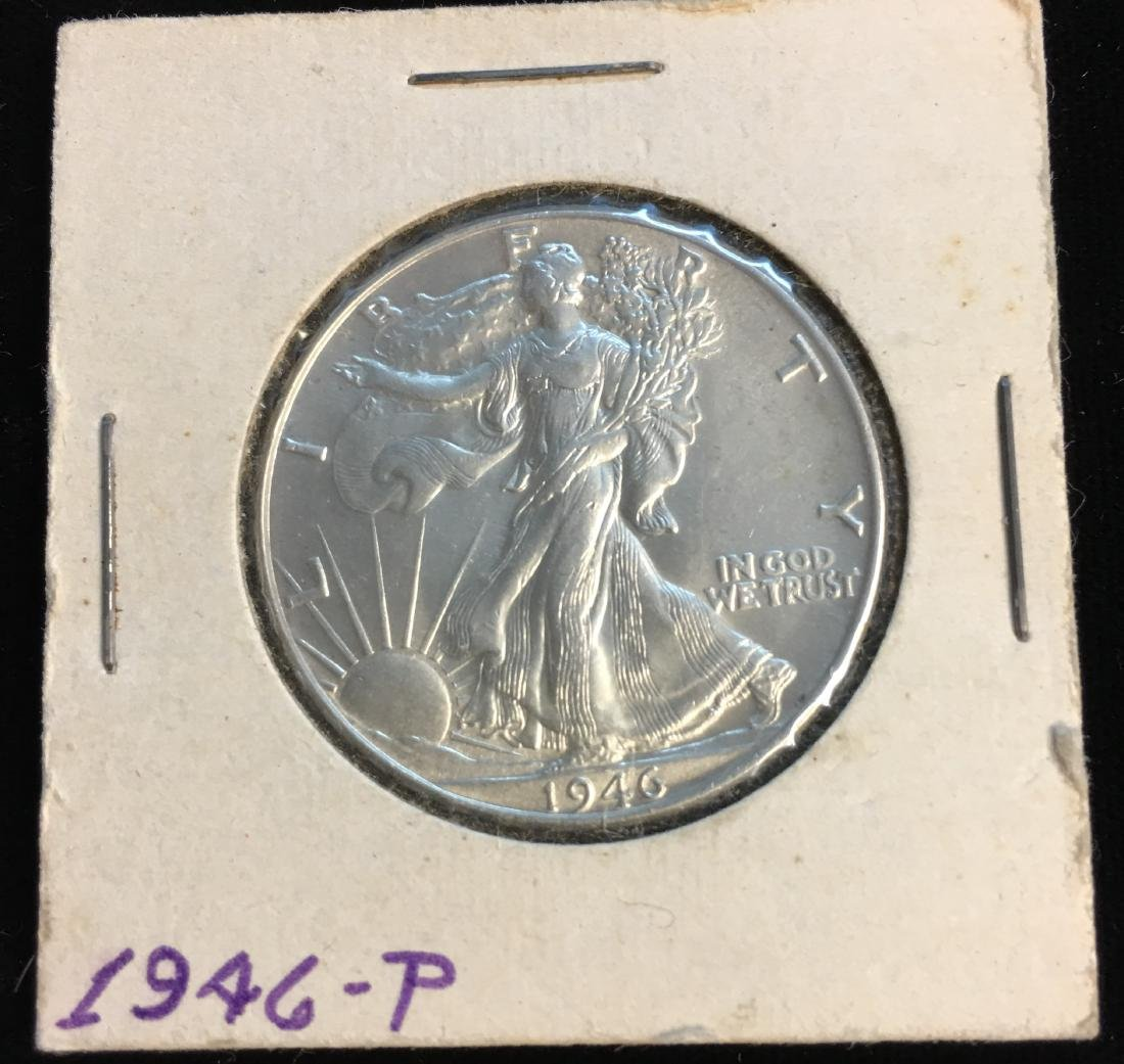 1946-P 50C Walking Liberty Silver Half Dollar