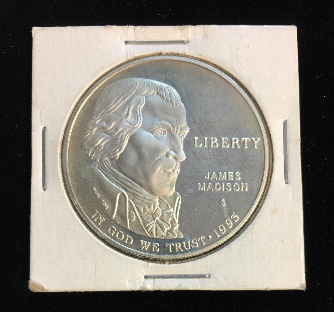 1993-S $1 Bill of Rights J. Madison Silver Modern