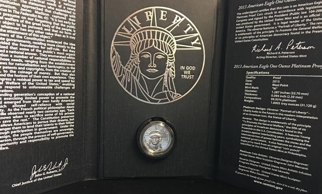 2013 U.S. Mint American Eagle Platinum Coin Program: