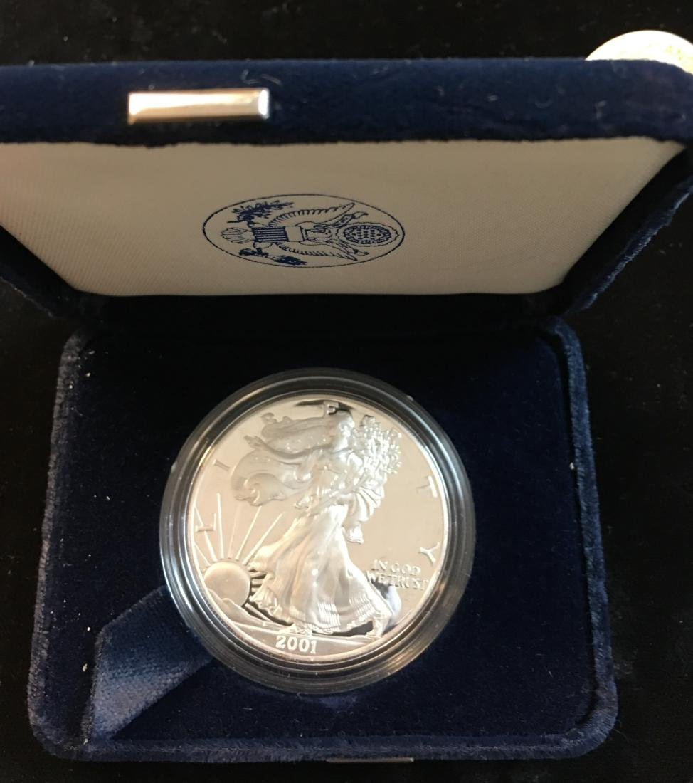 2001-W $1 American Silver Eagle Proof