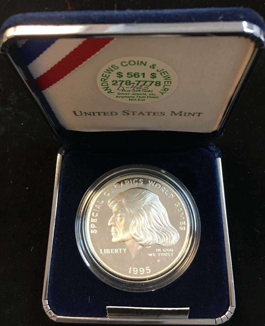 1995-P $1 Special Olympics World Games Silver Dollar