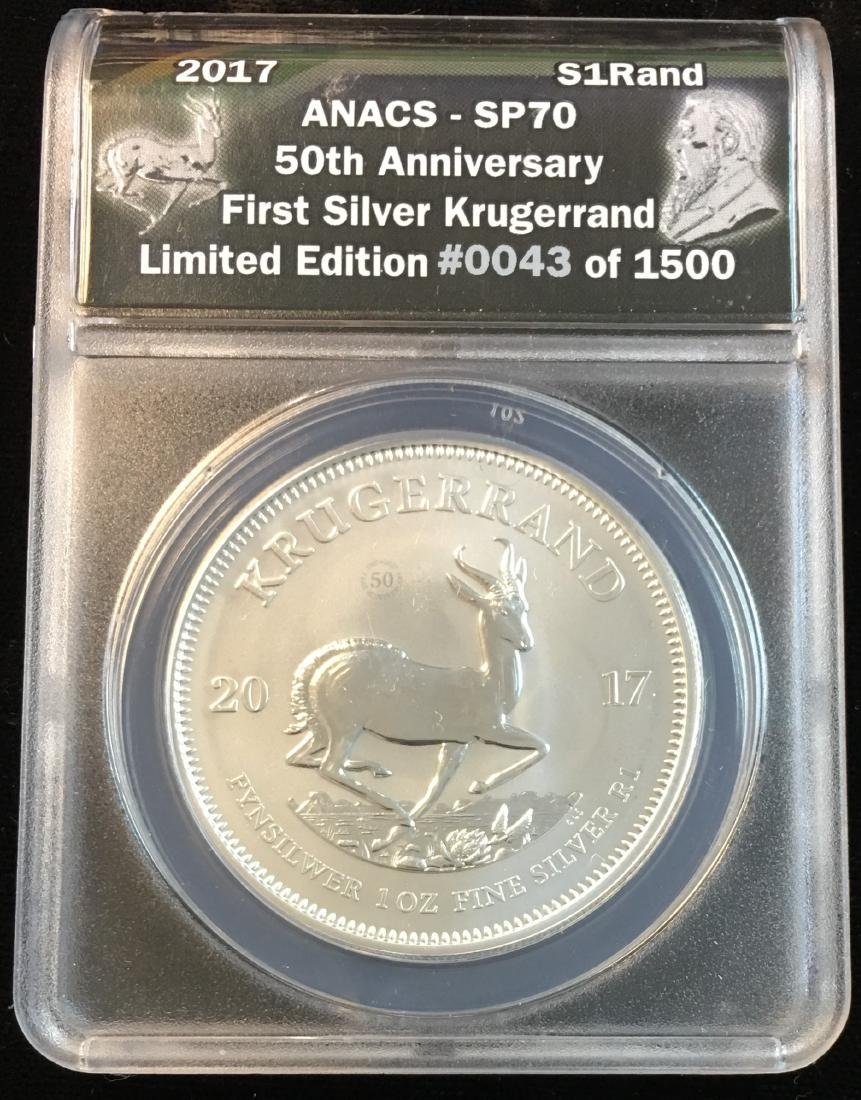 2017 S1Rand First Silver Krugerrand 50th Anniversary