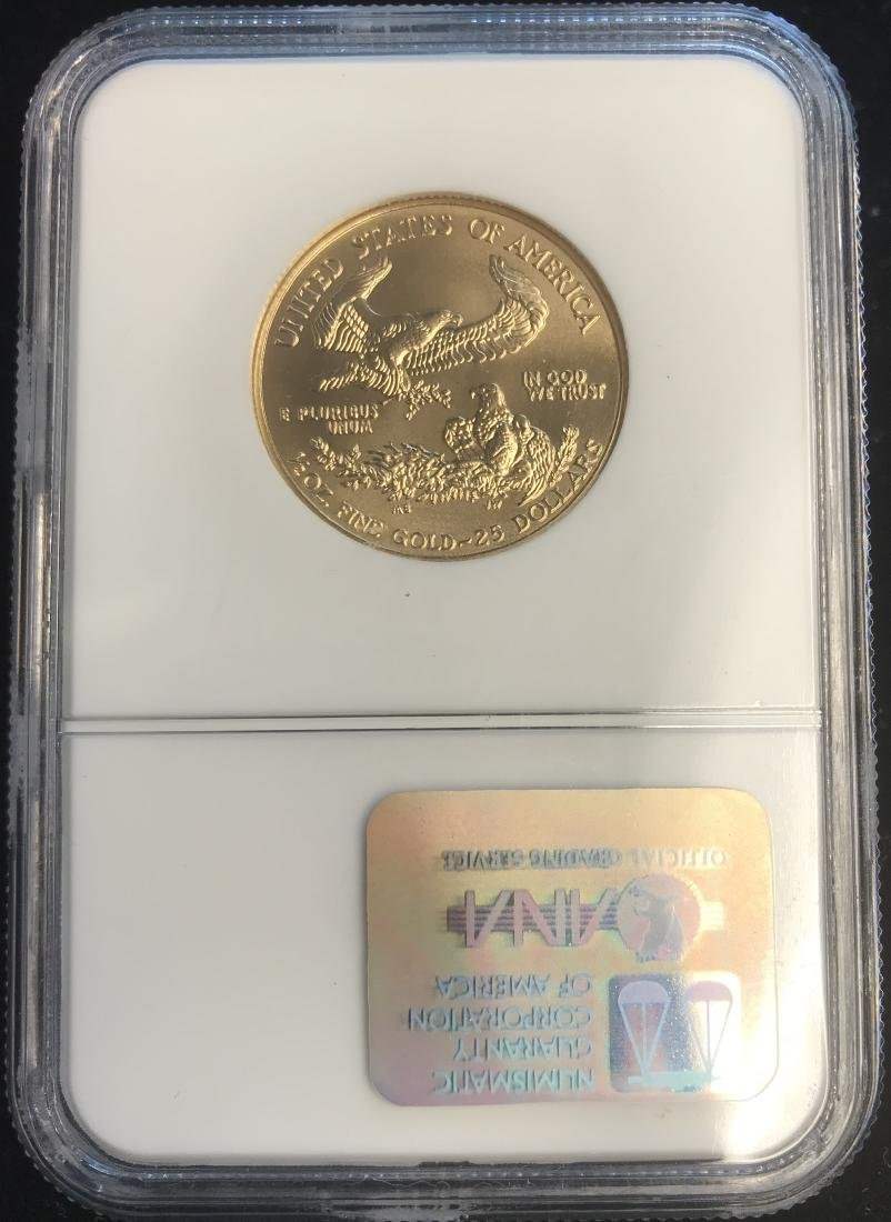 2002 $25 American Gold Eagle NGC MS69 1/2 oz Fine Gold - 2