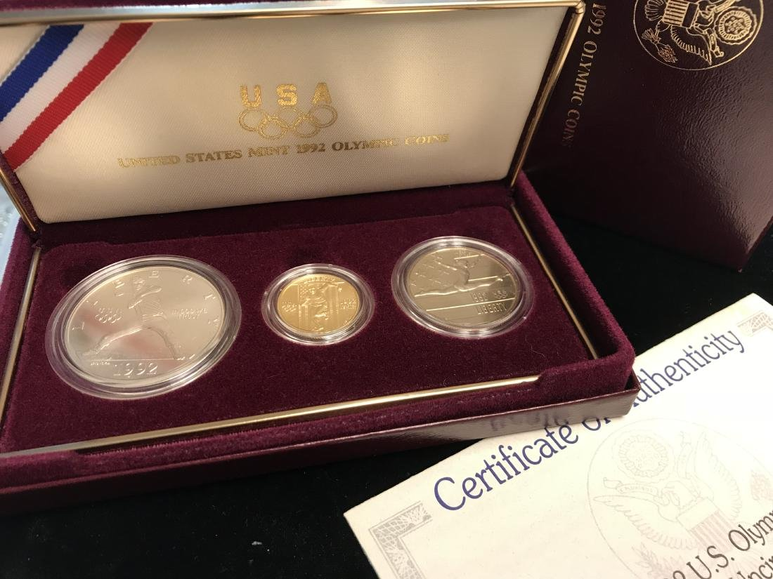 1992 U.S. Olympic Coins Three-Coin Uncirculated Set