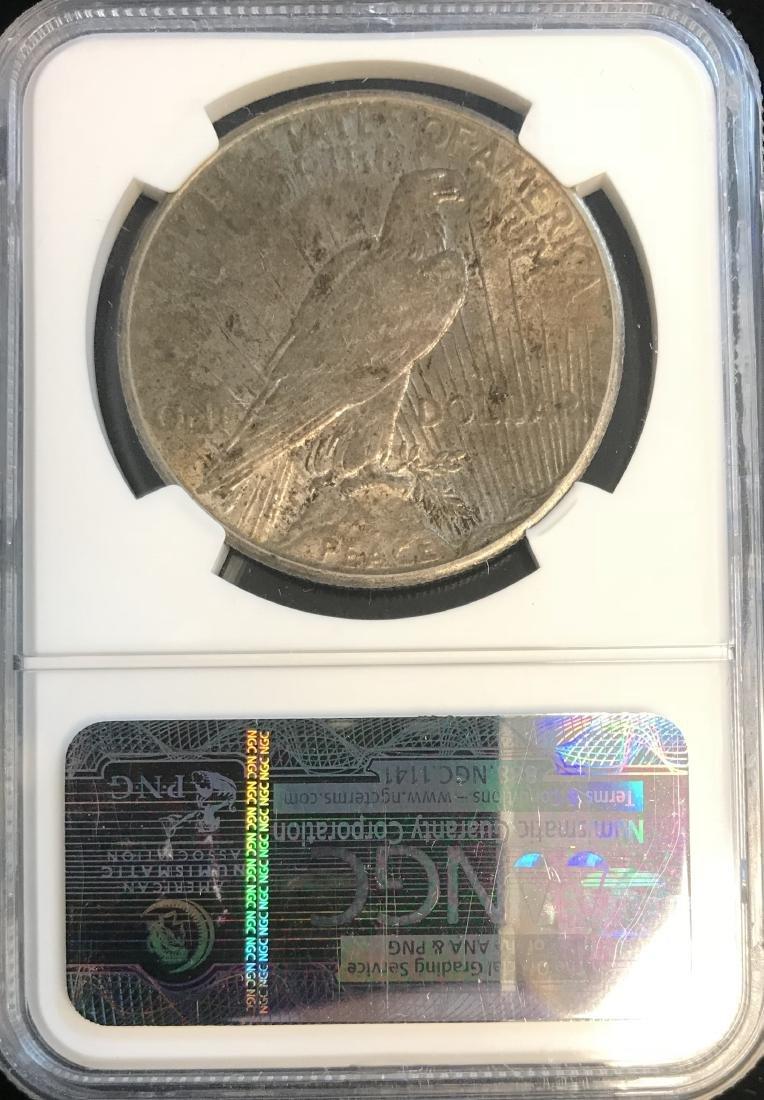 1928-P Peace Silver Dollar NGC AU Details - 2