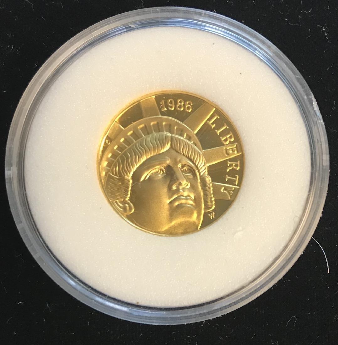 1986-W $5 Statue of Liberty Centennial Gold
