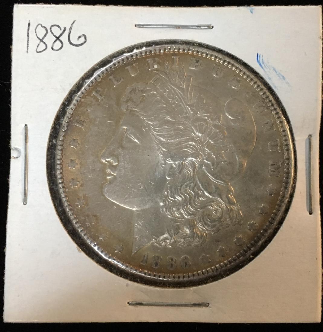 1886-P $1 Morgan Silver Dollar BU