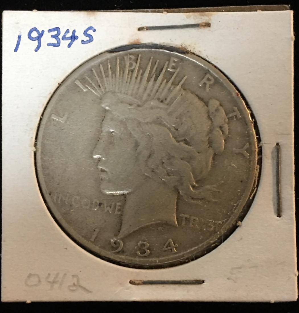 1934-S $1 Peace Silver Dollar