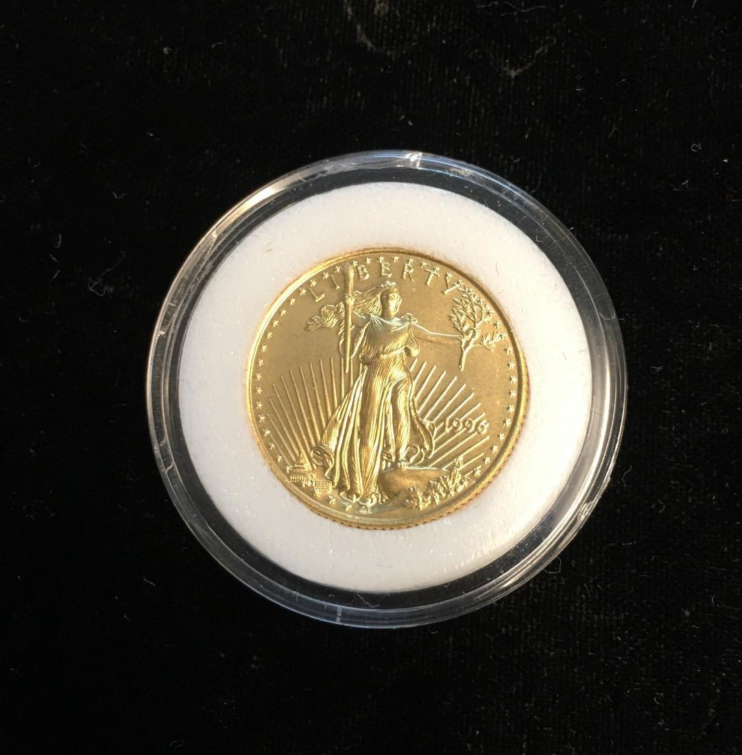 1996 $10 American Gold Eagle 1/4 oz Fine Gold
