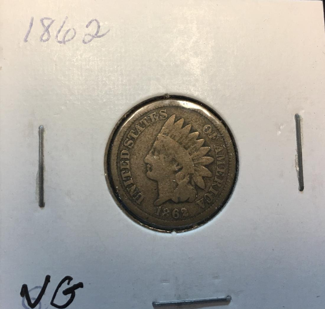 1862 1C Indian Head Cent