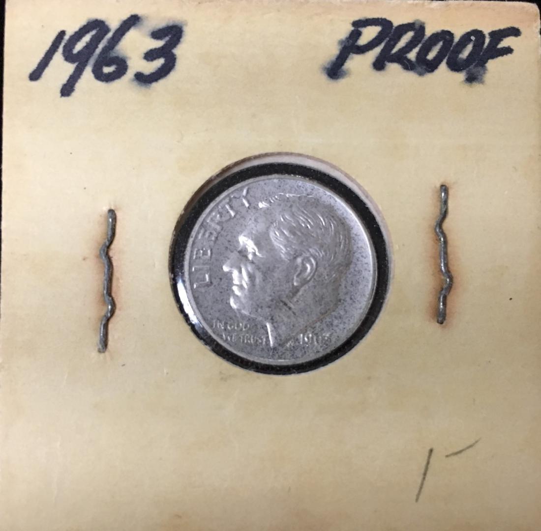 1963-P 10C Silver Roosevelt Dime Proof